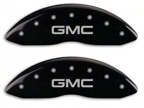 MGP Black Caliper Covers w/ GMC Logo - Front & Rear (14-18 Sierra 1500)