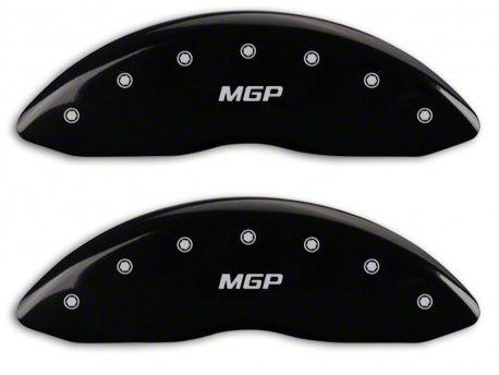 MGP Black Caliper Covers w/ MGP Logo - Front & Rear (14-18 Sierra 1500)