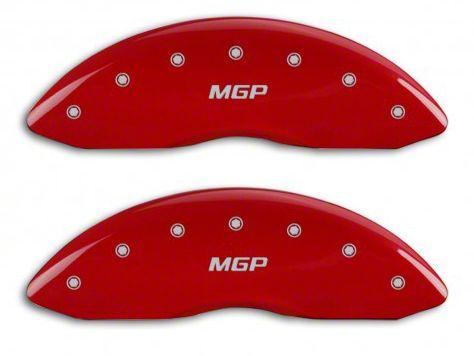 MGP Red Caliper Covers w/ MGP Logo - Front & Rear (14-18 Sierra 1500)