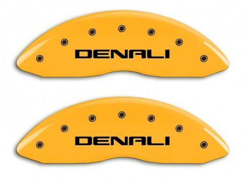 MGP Yellow Caliper Covers w/ DENALI Logo - Front & Rear (14-18 Sierra 1500)