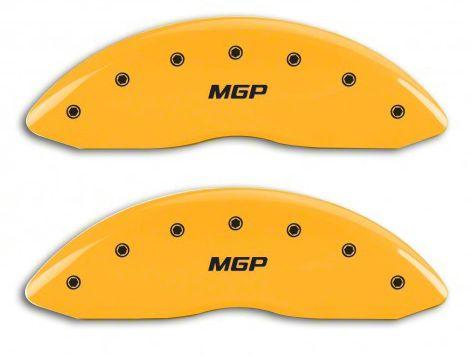 MGP Yellow Caliper Covers w/ MGP Logo - Front & Rear (07-13 Sierra 1500)