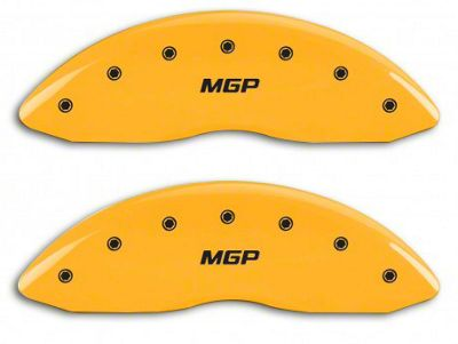 MGP Yellow Caliper Covers w/ MGP Logo - Front & Rear (14-18 Sierra 1500)