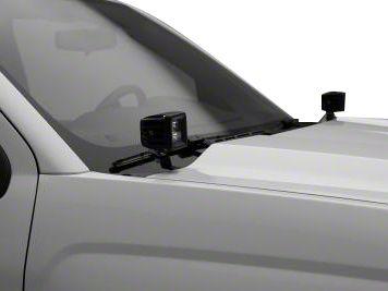 ZRoadz Two 3 in. LED Light Cubes Hood Hinge Mounting Brackets (14-18 Sierra 1500)