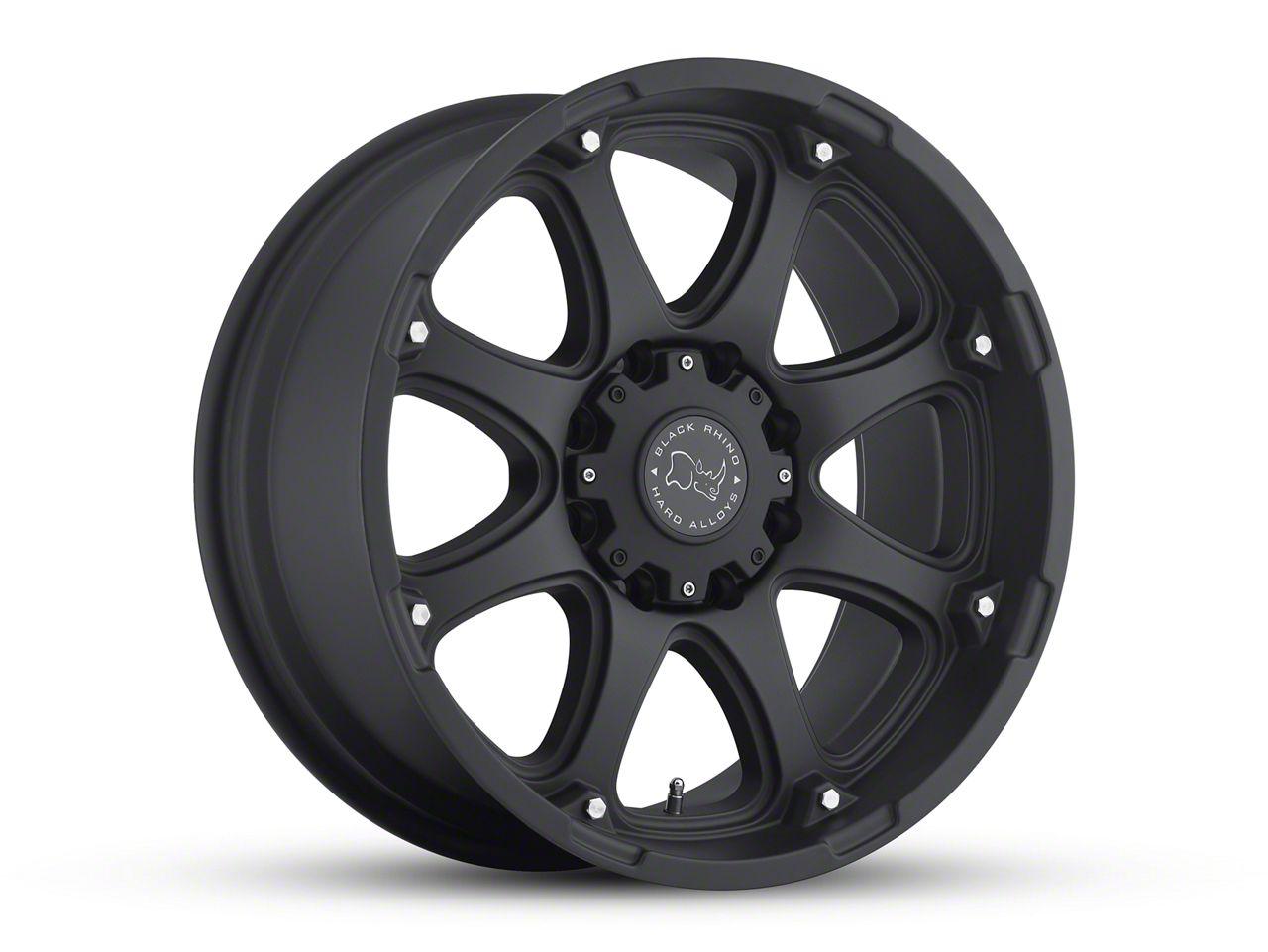 Black Rhino Glamis Matte Black 6-Lug Wheel - 17x9 (07-18 Sierra 1500)