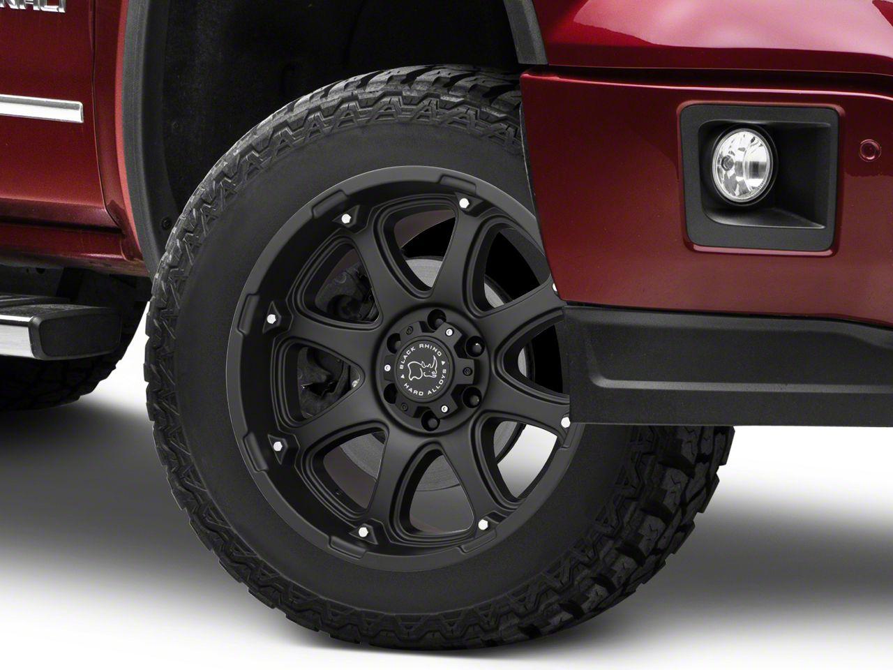 Black Rhino Glamis Matte Black 6-Lug Wheel - 20x12 (07-18 Sierra 1500)