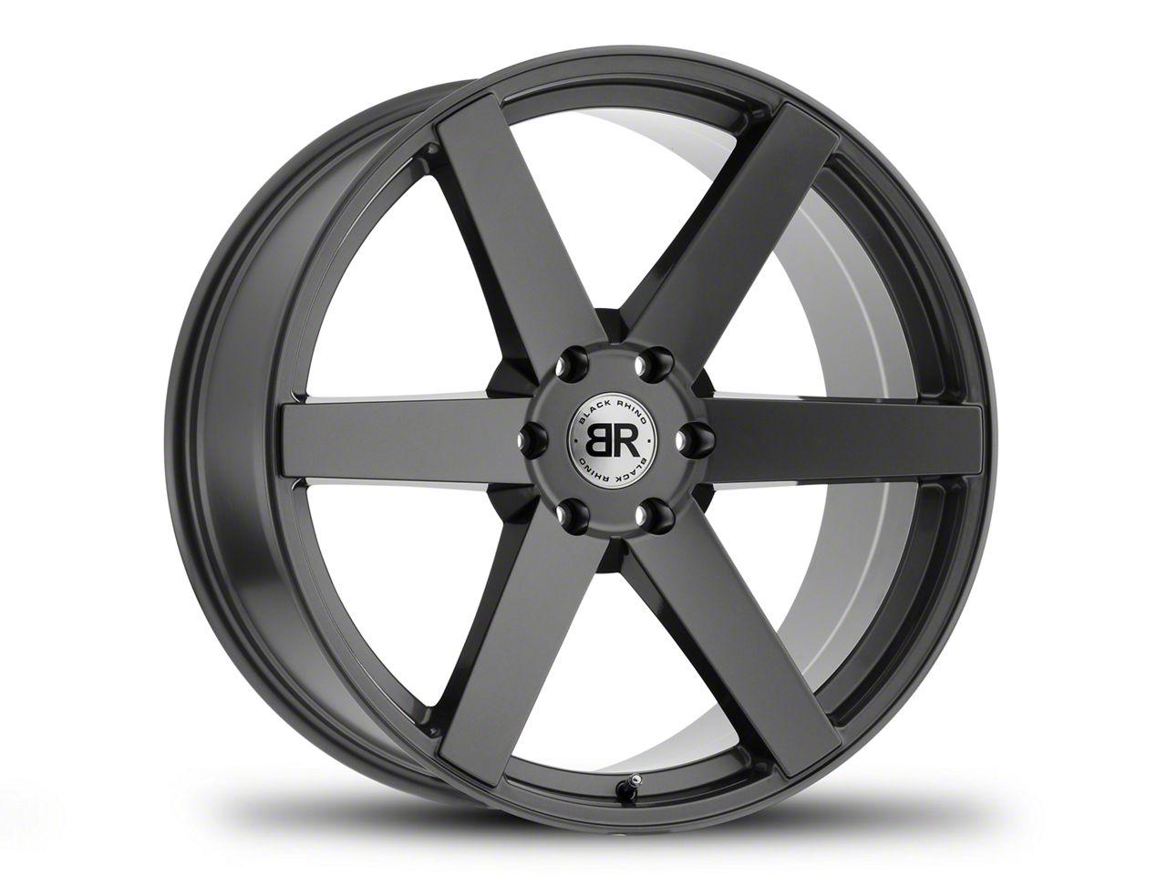 Black Rhino Karoo Gloss Gunmetal 6-Lug Wheel - 22x10 (07-19 Sierra 1500)