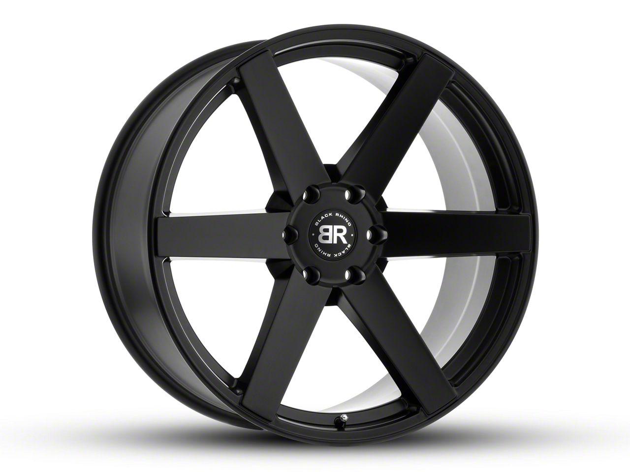 Black Rhino Karoo Matte Black 6-Lug Wheel - 24x10 (07-18 Sierra 1500)