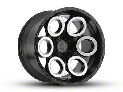 Black Rhino Magnus Matte Black Machined 6-Lug Wheel - 17x9.5 (07-18 Sierra 1500)