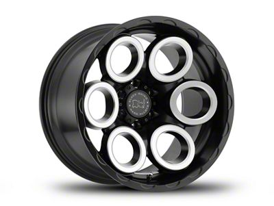 Black Rhino Magnus Matte Black Machined 6-Lug Wheel - 20x9.5 (07-18 Sierra 1500)