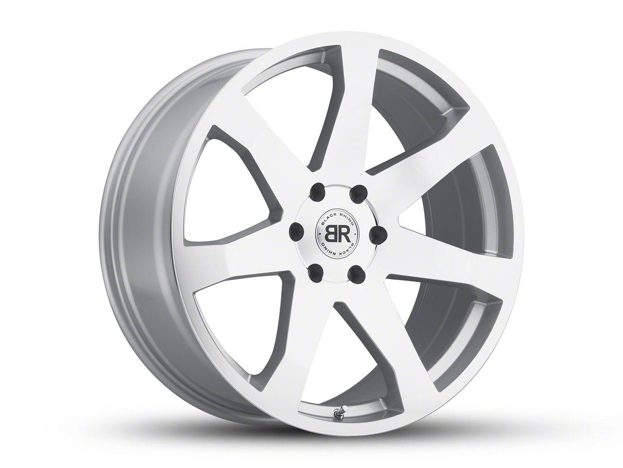 Black Rhino Mozambique Silver 6-Lug Wheel - 22x9.5 (07-18 Sierra 1500)