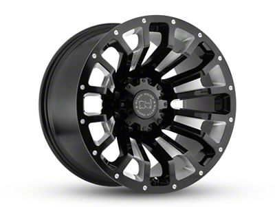 Black Rhino Pinatubo Gloss Black Milled 6-Lug Wheel - 17x9.5 (07-18 Sierra 1500)