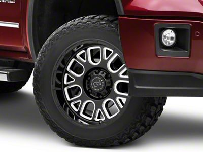 Black Rhino Pismo Gloss Black Milled 6-Lug Wheel - 20x12 (07-18 Sierra 1500)