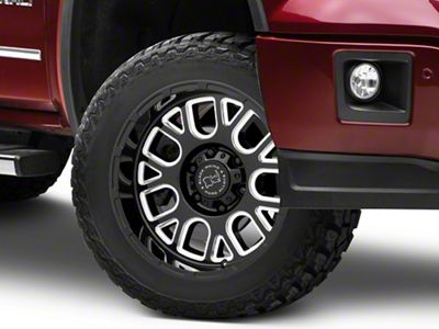 Black Rhino Pismo Gloss Black Milled 6-Lug Wheel - 20x9.5 (07-18 Sierra 1500)