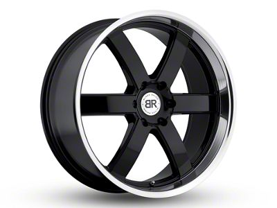 Black Rhino Pondora Gloss Black Machined 6-Lug Wheel - 20x8.5 (07-18 Sierra 1500)