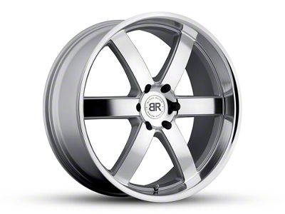 Black Rhino Pondora Silver Machined 6-Lug Wheel - 20x8.5 (07-18 Sierra 1500)