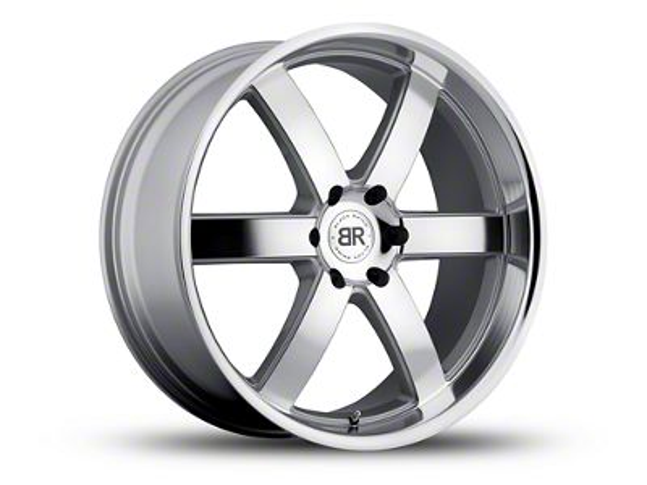 Black Rhino Pondora Silver Machined 6-Lug Wheel - 22x9.5 (07-18 Sierra 1500)