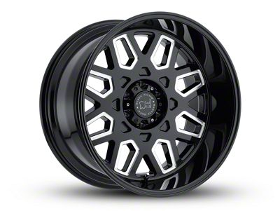 Black Rhino Predator Gloss Black Milled 6-Lug Wheel - 20x12 (07-18 Sierra 1500)