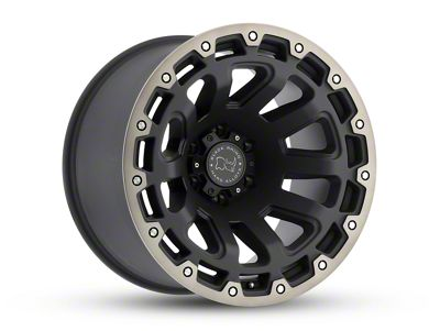 Black Rhino Razorback Matte Black Machined 6-Lug Wheel - 17x9 (07-18 Sierra 1500)