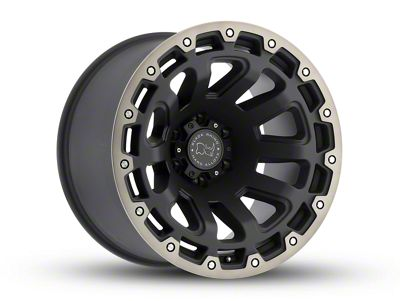Black Rhino Razorback Matte Black Machined 6-Lug Wheel - 18x9 (07-18 Sierra 1500)