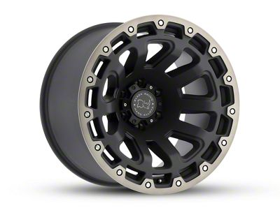 Black Rhino Razorback Matte Black Machined 6-Lug Wheel - 20x12 (07-18 Sierra 1500)