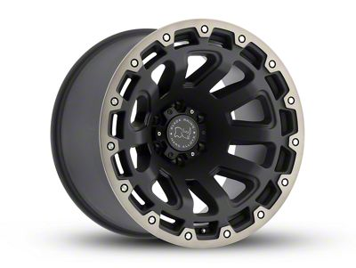 Black Rhino Razorback Matte Black Machined 6-Lug Wheel - 20x9 (07-18 Sierra 1500)