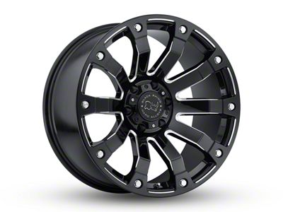 Black Rhino Selkirk Gloss Black Milled 6-Lug Wheel - 17x9 (07-18 Sierra 1500)