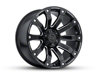 Black Rhino Selkirk Gloss Black Milled 6-Lug Wheel - 20x10 (07-18 Sierra 1500)