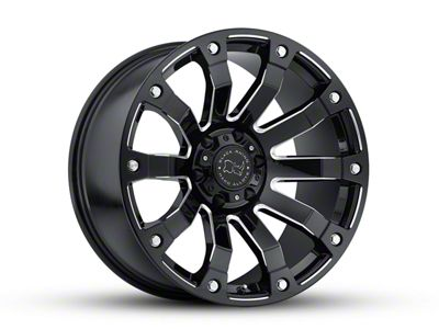 Black Rhino Selkirk Gloss Black Milled 6-Lug Wheel - 20x9 (07-18 Sierra 1500)