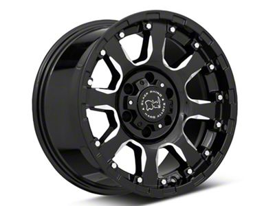 Black Rhino Sierra Gloss Black Milled 6-Lug Wheel - 17x9 (07-18 Sierra 1500)