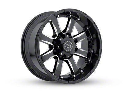 Black Rhino Sierra Gloss Black Milled 6-Lug Wheel - 18x9 (07-18 Sierra 1500)