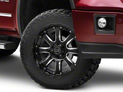 Black Rhino Sierra Gloss Black Milled 6-Lug Wheel - 20x9 (07-18 Sierra 1500)