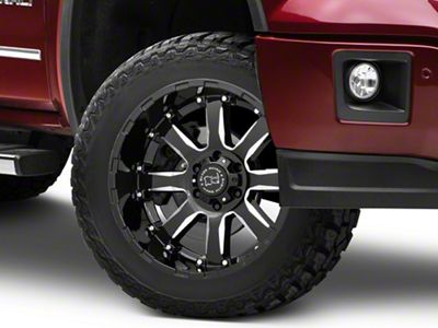 Black Rhino Sierra Gloss Black Milled 6-Lug Wheel - 20x10 (07-18 Sierra 1500)