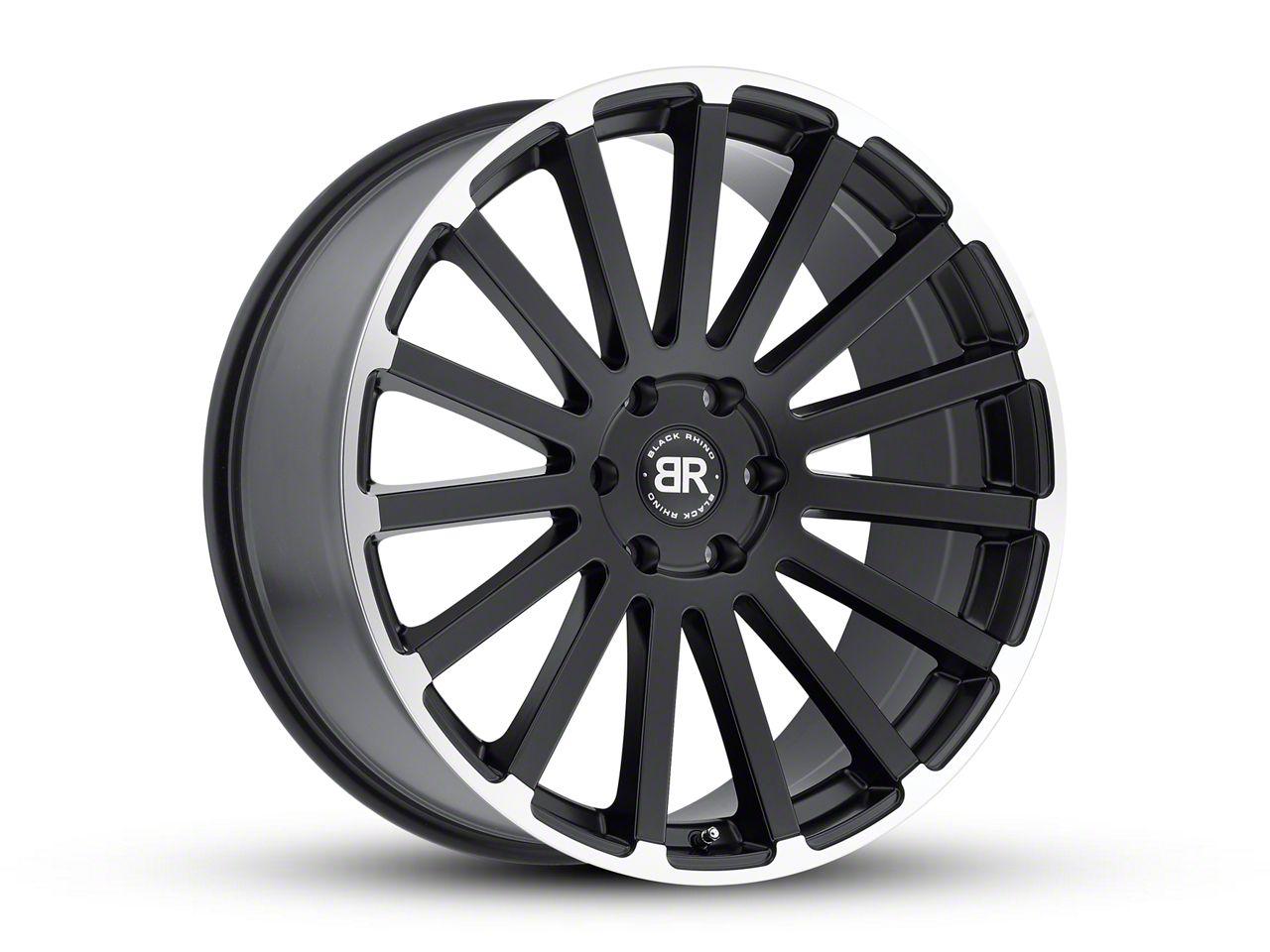 Black Rhino Spear Matte Black Machined 6-Lug Wheel - 22x9.5 (07-18 Sierra 1500)