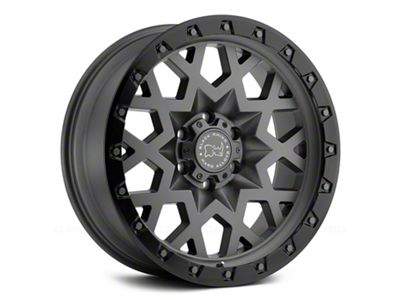 Black Rhino Sprocket Matte Gunmetal 6-Lug Wheel - 17x9.5 (07-18 Sierra 1500)