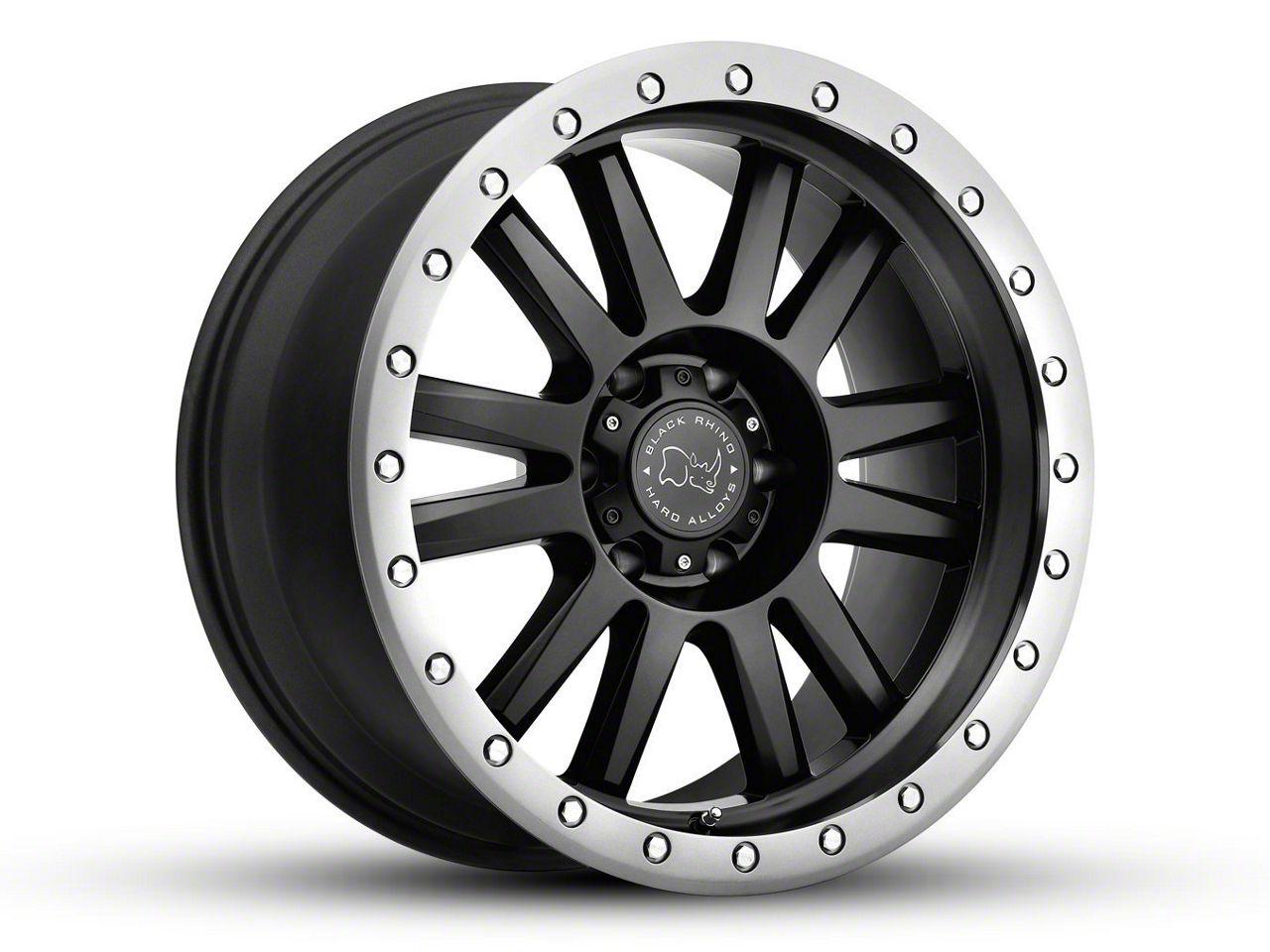 Black Rhino Tanay Matte Black Graphite 6-Lug Wheel - 17x9 (07-18 Sierra 1500)