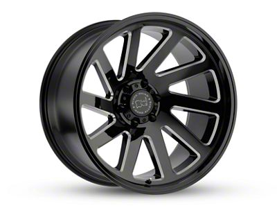 Black Rhino Thrust Gloss Black Milled 6-Lug Wheel - 17x9.5 (07-18 Sierra 1500)