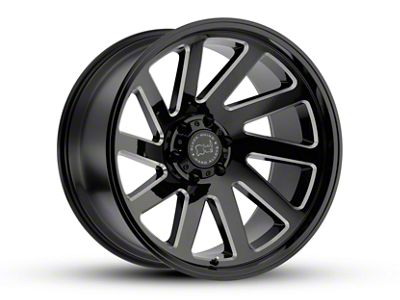 Black Rhino Thrust Gloss Black Milled 6-Lug Wheel - 20x12 (07-18 Sierra 1500)