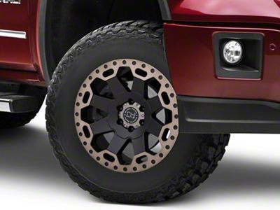 Black Rhino Warlord Matte Black Machined 6-Lug Wheel - 17x8 (07-18 Sierra 1500)