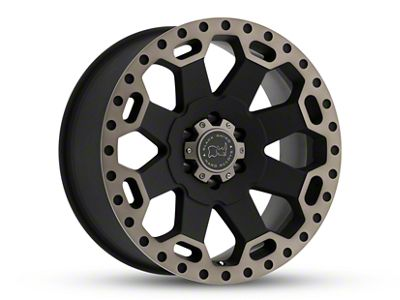 Black Rhino Warlord Matte Black Machined 6-Lug Wheel - 17x9 (07-18 Sierra 1500)