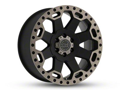 Black Rhino Warlord Matte Black Machined 6-Lug Wheel - 18x9 (07-18 Sierra 1500)