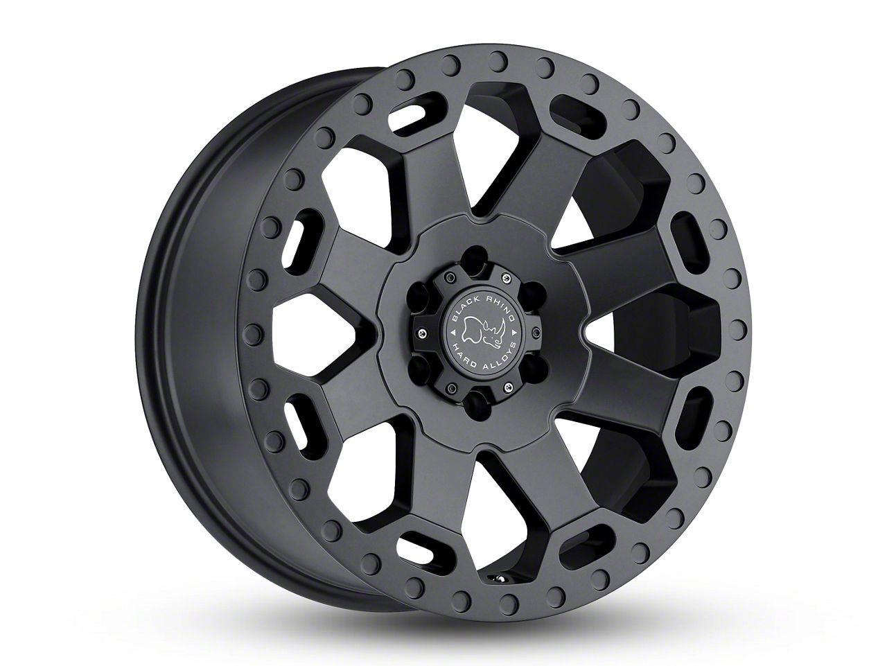 Black Rhino Warlord Matte Gunmetal 6-Lug Wheel - 18x9 (07-18 Sierra 1500)