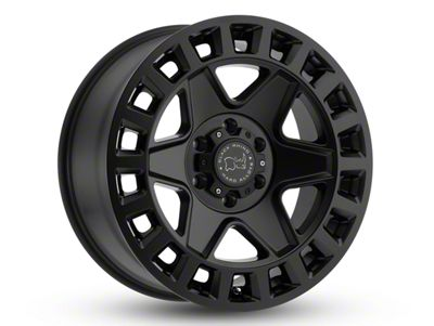 Black Rhino York Matte Black 6-Lug Wheel - 17x9 (07-18 Sierra 1500)