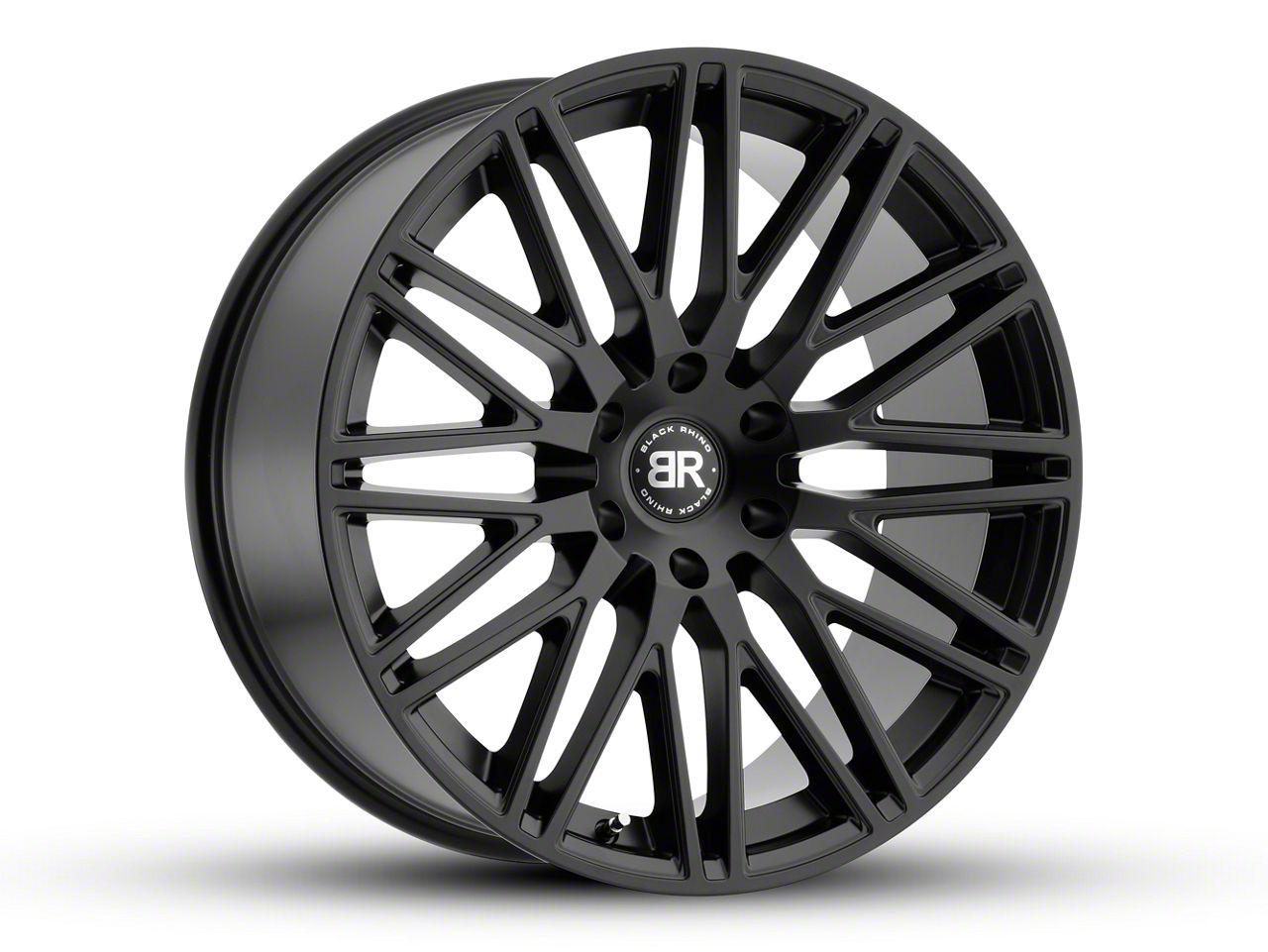 Black Rhino Zulu Matte Black 6-Lug Wheel - 24x10 (07-18 Sierra 1500)