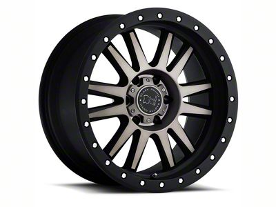 Black Rhino Tanay Matte Black Machined 6-Lug Wheel - 17x9 (07-18 Sierra 1500)