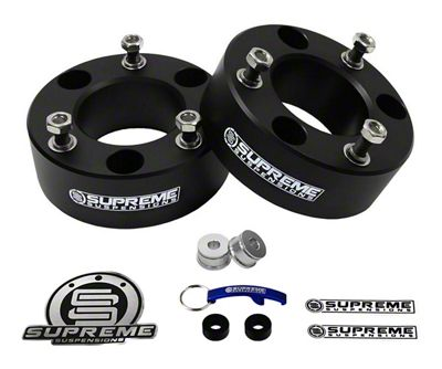 Supreme Suspensions 2.5 in. Pro Billet Front Strut Spacer Leveling Kit (07-18 Sierra 1500, Excluding 14-18 Denali)