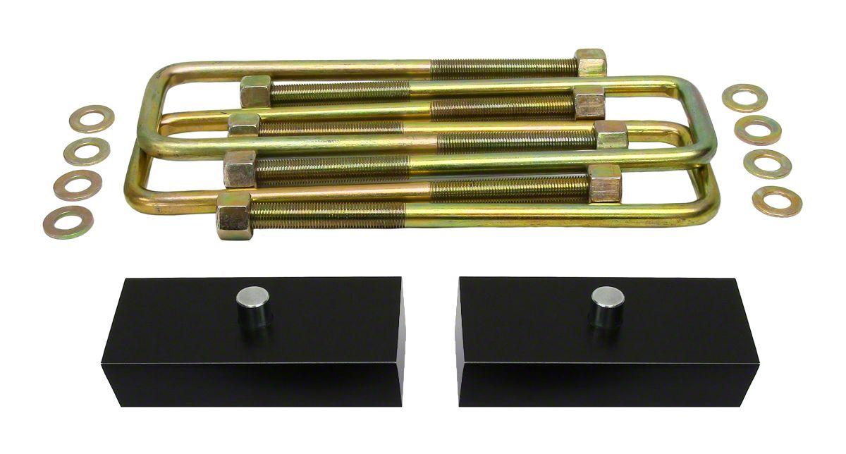 Supreme Suspensions 1 in. Pro Billet Rear Lift Blocks (07-18 Sierra 1500, Excluding 14-18 Denali)