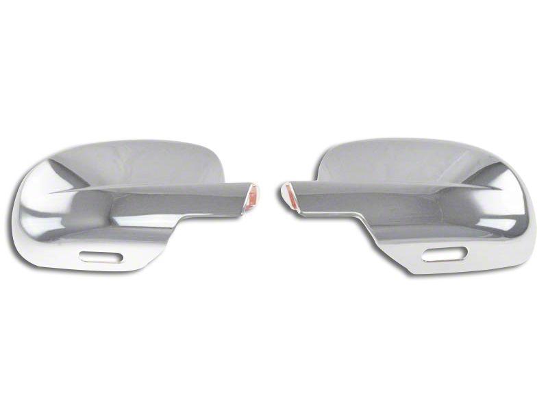 Black Horse Off Road Full Mirror Covers - Chrome (07-13 Sierra 1500)