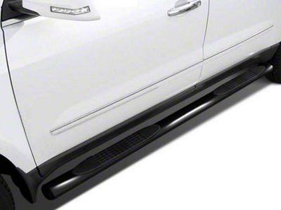 Black Horse Off Road 4 in. Oval Side Step Bars - Black (07-13 Sierra 1500 Crew Cab)