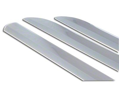 Black Horse Off Road Side Moldings - Chrome (14-18 Sierra 1500 Double Cab, Crew Cab)