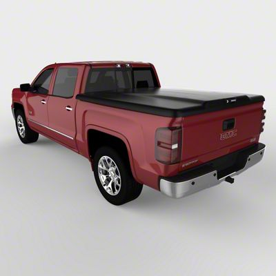 UnderCover Elite Hinged Tonneau Cover - Black Textured (14-18 Sierra 1500 w/ Short & Standard Box)